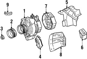 Imagen de Alternador Original para Lexus SC300 1992 1993 1994 Marca LEXUS Remanufacturado Número de Parte 270604603084