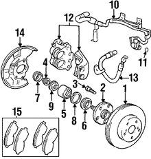 Imagen de Pastillas de Freno Original para Lexus SC300 1992 1993 1994 1995 Marca LEXUS Número de Parte 0446524010