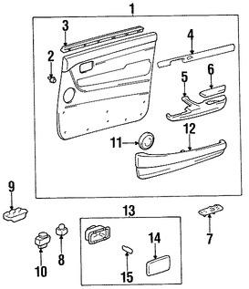 Imagen de Interruptor de vidrio eléctrico de la puerta Original para Lexus LX450 1996 1997 Toyota Land Cruiser 1995 1996 Marca LEXUS Número de Parte 8482035010