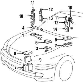 Imagen de Módulo de Control de la carrocería Original para Lexus GS400 1998 Marca LEXUS Número de Parte 8922030030