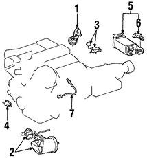 Imagen de Sensor de oxigeno Original para Lexus GS400 1998 1999 2000 Marca LEXUS Número de Parte 8946530410