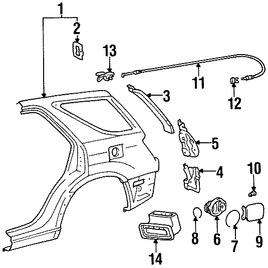 Actuador del Seguro Puerta de Combustible Original para