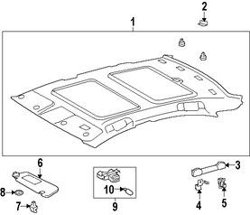 Imagen de Techo Interior Original para Lexus ES350 2008 2009 Marca LEXUS Número de Parte 6331033580A0