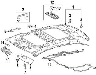 Imagen de Barra Interior para agarrarse Original para Lexus ES300h 2016 2017 Lexus ES350 2016 2017 Marca LEXUS Número de Parte 7461030350B1