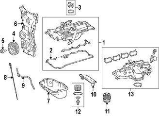 Imagen de Tapa de Valvula del Motor Original para Lexus  2016 Lexus GS200t 2016 Lexus IS200t 2016 Marca LEXUS Número de Parte 1121036020