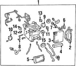 Imagen de Manguera de Refrigerante Aire Acondicionado Original para Lexus LS430 2001 2002 2003 Marca LEXUS Número de Parte 8871050700