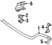 Imagen de Barra Estabilizadora de Suspensión Original para Lexus LS430 2001 2002 2003 Marca LEXUS Número de Parte 4881150090