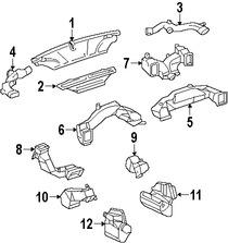 Imagen de Ducto de Aire del Panel de Instrumentos Original para Lexus SC430 2007 2008 2009 2010 Marca LEXUS Número de Parte 5584324070