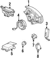 Imagen de Cable Espiral Bolsa de Aire Original para Lexus SC430 2008 2009 2010 Marca LEXUS Número de Parte 8430624090