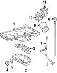 Imagen de Cárter Original para Lexus GS430 2006 2007 Lexus LS430 2005 2006 Marca LEXUS Número de Parte 1210250150