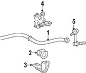 Imagen de Barra Estabilizadora de Suspensión Original para Lexus GS350 2007 Lexus GS430 2007 Lexus GS450h 2007 Marca LEXUS Número de Parte 4886030031