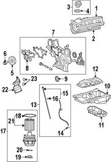 Imagen de Tapa de Valvula del Motor Original para Lexus GS460 2008 2009 2010 2011 Marca LEXUS Número de Parte 1120238031