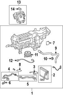 Imagen de Manguera de Refrigerante Aire Acondicionado Original para Lexus LS600h 2008 2009 Marca LEXUS Número de Parte 8871050850