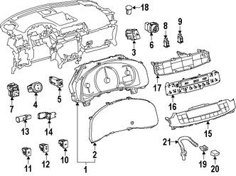 Imagen de Panel de Control de Termperatura Climatización Original para Lexus CT200h 2014 2015 2016 2017 Marca LEXUS Número de Parte 5590576140