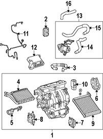 Imagen de Modulo de Control calefacción, ventilación y aire acondicionado Original para Lexus HS250h 2010 2011 2012 Marca LEXUS Número de Parte 8865075090