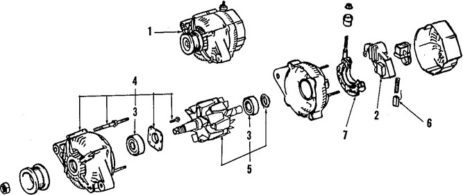 Alternador y regulador de voltaje para Toyota Cressida 1992