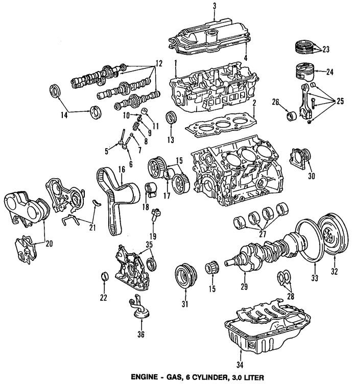 Imagen de Bomba de Aceite Original para Toyota Camry 1992 1993 Lexus ES300 1992 1993 Marca LEXUS Número de Parte 1510062030