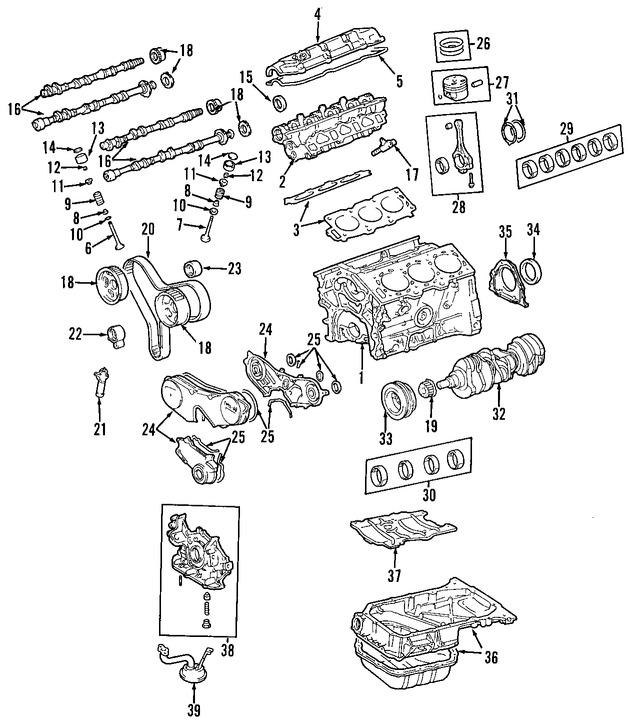 Imagen de Juego Completo Empacaduras del Motor Original para Lexus ES330 2004 Marca LEXUS Número de Parte 0411120282