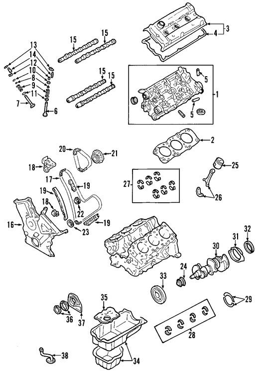 Imagen de Motor Completo Original para Lexus IS250 2006 2007 2008 Marca LEXUS Número de Parte 1900031B00