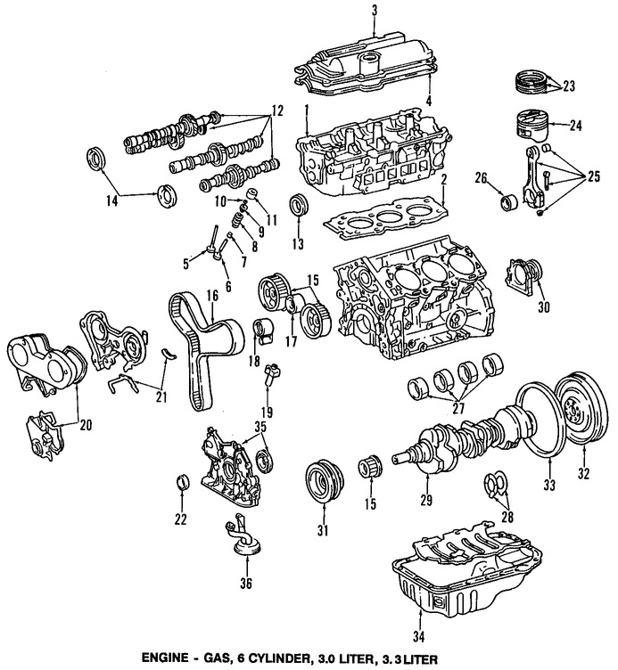 Imagen de Juego Completo Empacaduras del Motor Original para Toyota Camry 2004 Toyota Solara 2004 Lexus ES330 2004 Marca LEXUS Número de Parte 0411120210