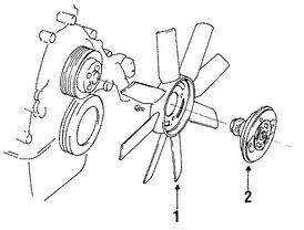 Imagen de Embrague del Ventilador Enfriado del Motor Original para Mazda B4000 1994 Mazda Navajo 1991 1992 Marca MAZDA Número de Parte ZZL015150D
