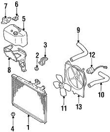 Imagen de Radiador Original para Mazda MX-6 1988 1989 Mazda 626 1988 1989 Marca MAZDA Número de Parte F22015200B