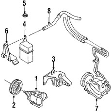 Imagen de Deposito Liquido Hidraulico Direccion Asistida Original para Mazda MX-6 1990 1989 Mazda 626 1988 Marca MAZDA Número de Parte G23832690C