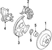 Imagen de Pinza de Freno de Disco Original para Mazda MX-6 1989 1988 Mazda 626 1988 1989 Marca MAZDA Número de Parte G2Y82699ZR