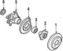 Imagen de Rotor del Disco de freno Original para Mazda 929 1988 1989 Marca MAZDA Número de Parte H7Y126251
