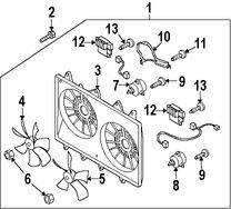 Imagen de Montura de ventilador de enfriado de motor Original para Mazda CX-9 2007 2008 2009 Marca MAZDA Número de Parte CY0315025G