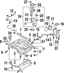 Imagen de Bomba de combustible Original para Mazda CX-9 2007 2008 2009 2010 Marca MAZDA Número de Parte CY0313350