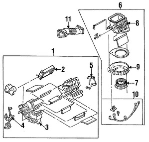 Imagen de Radiador del calentador Original para Mazda Miata 1990 1991 1992 1993 Marca MAZDA Número de Parte NA0161A10