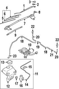 Imagen de Motor de Limpiaparabrisas Original para Mazda MX-5 Miata 2006 2007 2008 2009 Marca MAZDA Número de Parte NE5167340B