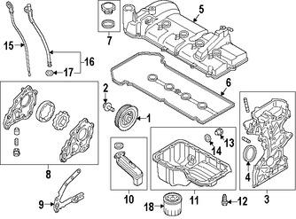 Imagen de Bomba de Aceite Original para Mazda 2 2011 2012 2013 2014 Marca MAZDA Número de Parte ZJ0114100