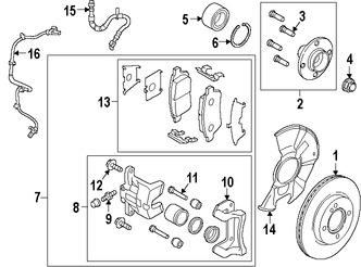 Imagen de Sensor de Velocidad Freno ABS Original para Mazda 2 2011 2012 2013 2014 Marca MAZDA Número de Parte D6514370XB