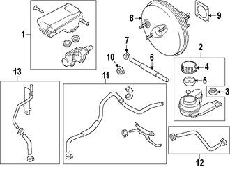 Imagen de Reforzador de Frenos Original para Mazda 2 2011 2012 2013 2014 Marca MAZDA Número de Parte DFY14380Z