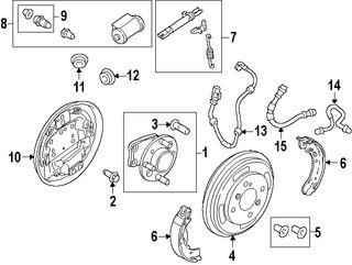 Imagen de Cilindro de Tambor de Freno Original para Mazda 2 2011 2012 2013 2014 Marca MAZDA Número de Parte DF7126610