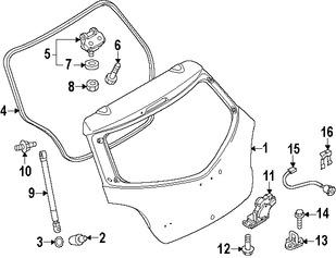 Imagen de Soporte Elevación Puerta Trasera Original para Mazda 2 2011 2012 2013 2014 Marca MAZDA Número de Parte D65163620A