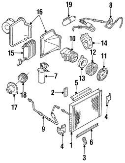 Imagen de Receptor-Secador de Aire Acondicionado Original para Mazda Navajo 1991 1992 1993 1994 Marca MAZDA Número de Parte ZZL161500