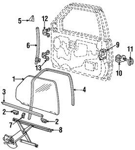 Imagen de Regulador de Vidrio Automatico Original para Mazda Navajo 1991 1992 1993 1994 Marca MAZDA Número de Parte ZZL158560B