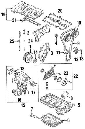 Autopartes Mazda para modelo MX-6. Pag 407
