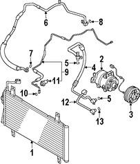 Imagen de Embrague del Compresor de Aire Acondicionado Original para Mazda 6 2007 2008 2006 Marca MAZDA Número de Parte GN3G61L10