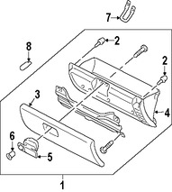 Bombilla de luz de guantera Original para Mazda 6 Mazda CX