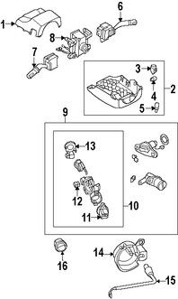 Imagen de Interruptor del limpiaparabrisas Original para Mazda RX-8 2009 Mazda 6 2008 Marca MAZDA Número de Parte GR6A66128