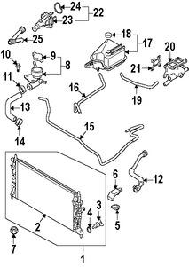 Manguera Bypass de refrigerante Original para Mazda 5