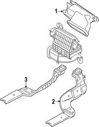 Imagen de Ducto de Aire del Panel de Instrumentos Original para Mazda CX-7 2007 2008 2009 Marca MAZDA Número de Parte EG2161272A