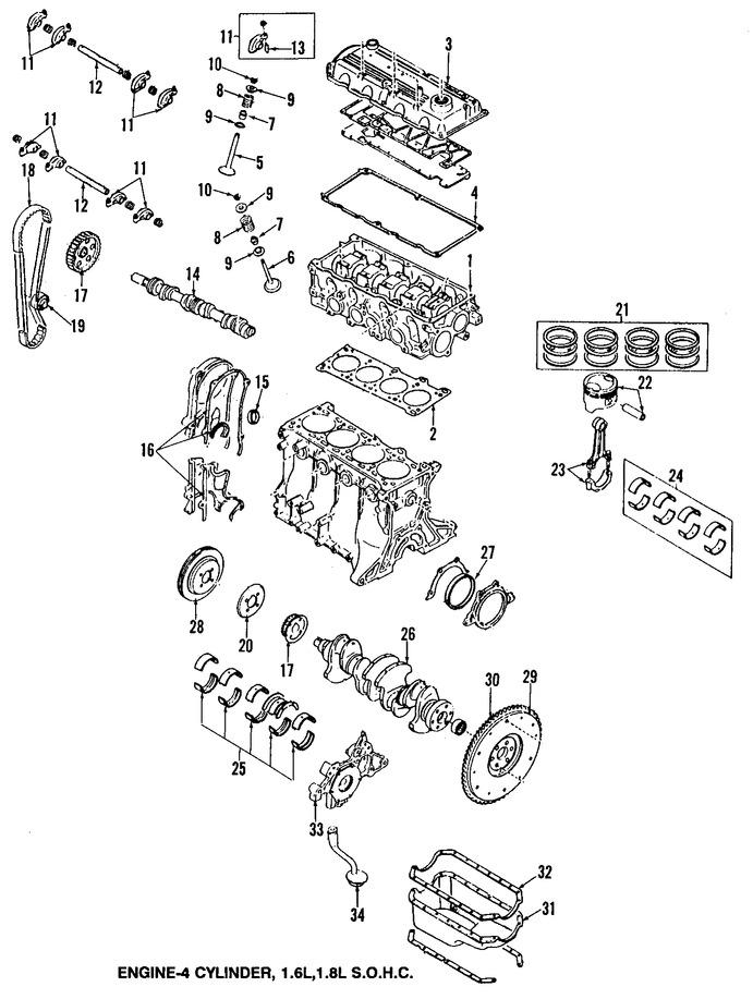 Engranaje del árbol de levas para Mazda Protege 1992