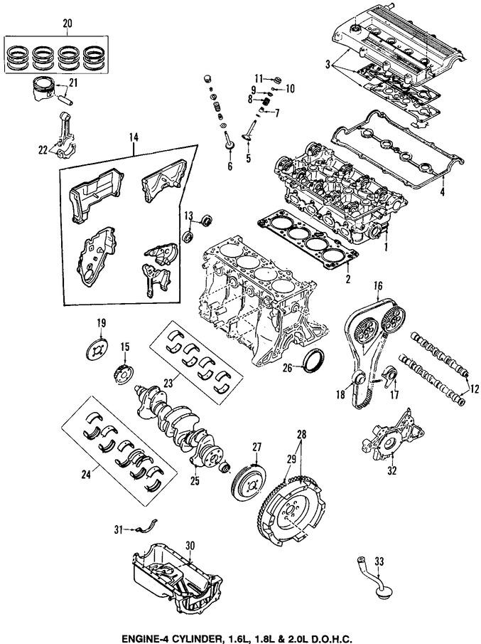 Cigeal Y Cojinete Para Mazda Protege 2000