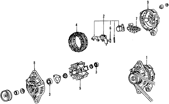 Imagen de Regulador de Voltaje Original para Mazda Miata 1990 Marca MAZDA Número de Parte B61P18W70