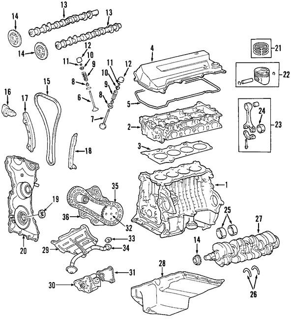Imagen de Arbol de Levas Original para Mazda B2300 2003 2004 2005 Marca MAZDA Número de Parte LF0112421A